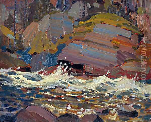 Swift Water Oil Painting Reproduction By Tom Thomson