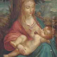 Paintings For Living Room Futon Set The Madonna And Child 2 Oil Painting Reproduction By ...