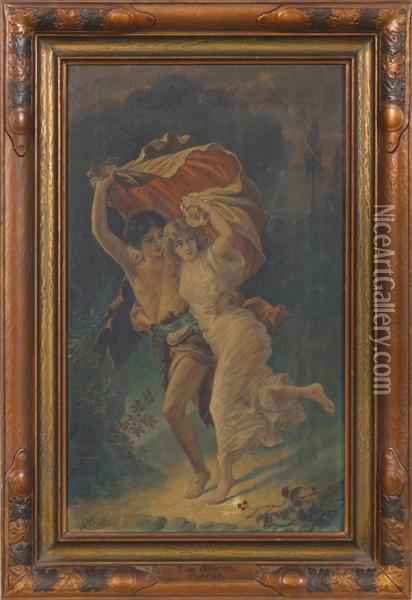 The Storm oil painting reproduction by PierreAuguste Cot