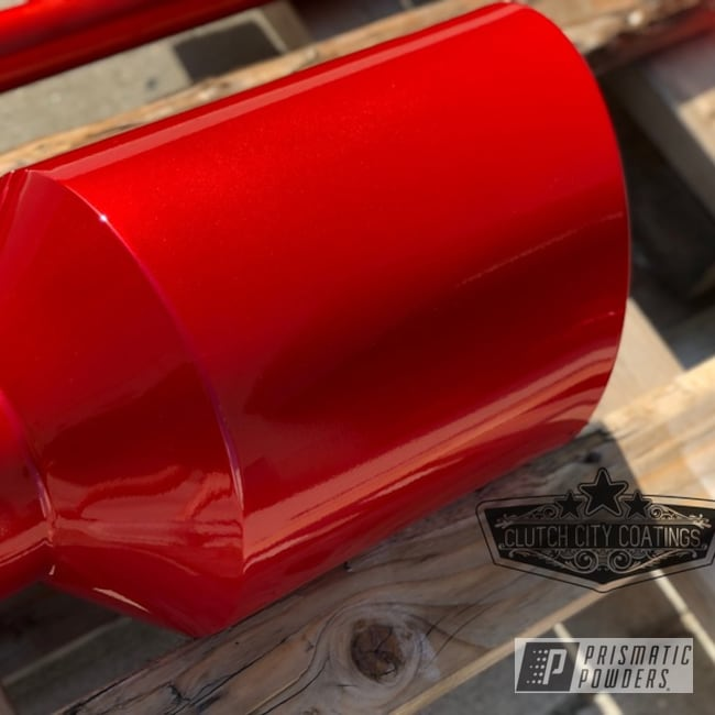 powder coated exhaust tip in illusion