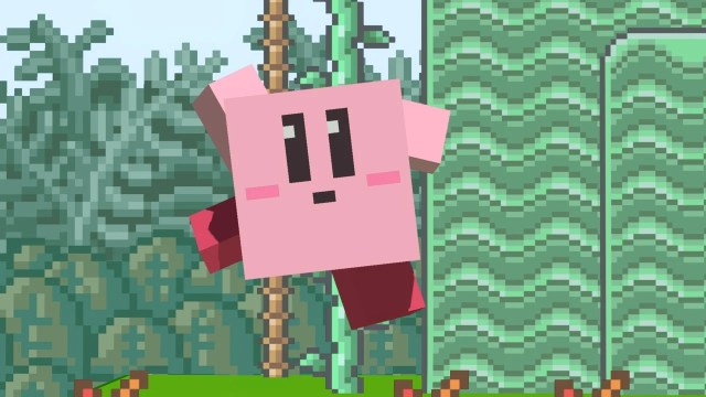 This Is What Kirby's Minecraft Form Looks Like In Smash Bros. Ultimate 2