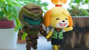 Coincidentally: Isabelle sees Doomguy and Animal Crossing in the new year together on Twitter