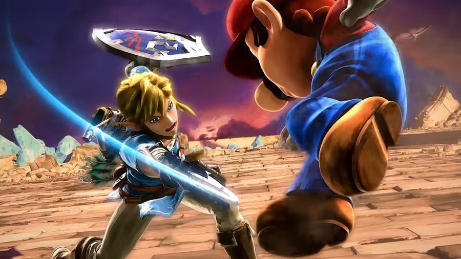 Super Smash Bros Mario And Link