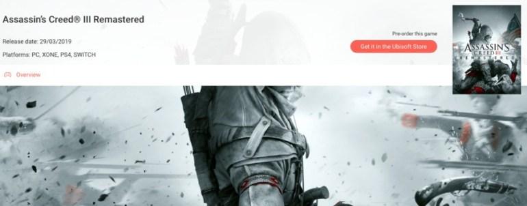 Ein Screenshot der Ubisoft Club-Website