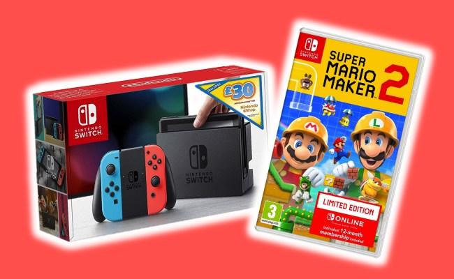 Deals Get A Nintendo Switch Super Mario Maker 2 And 12