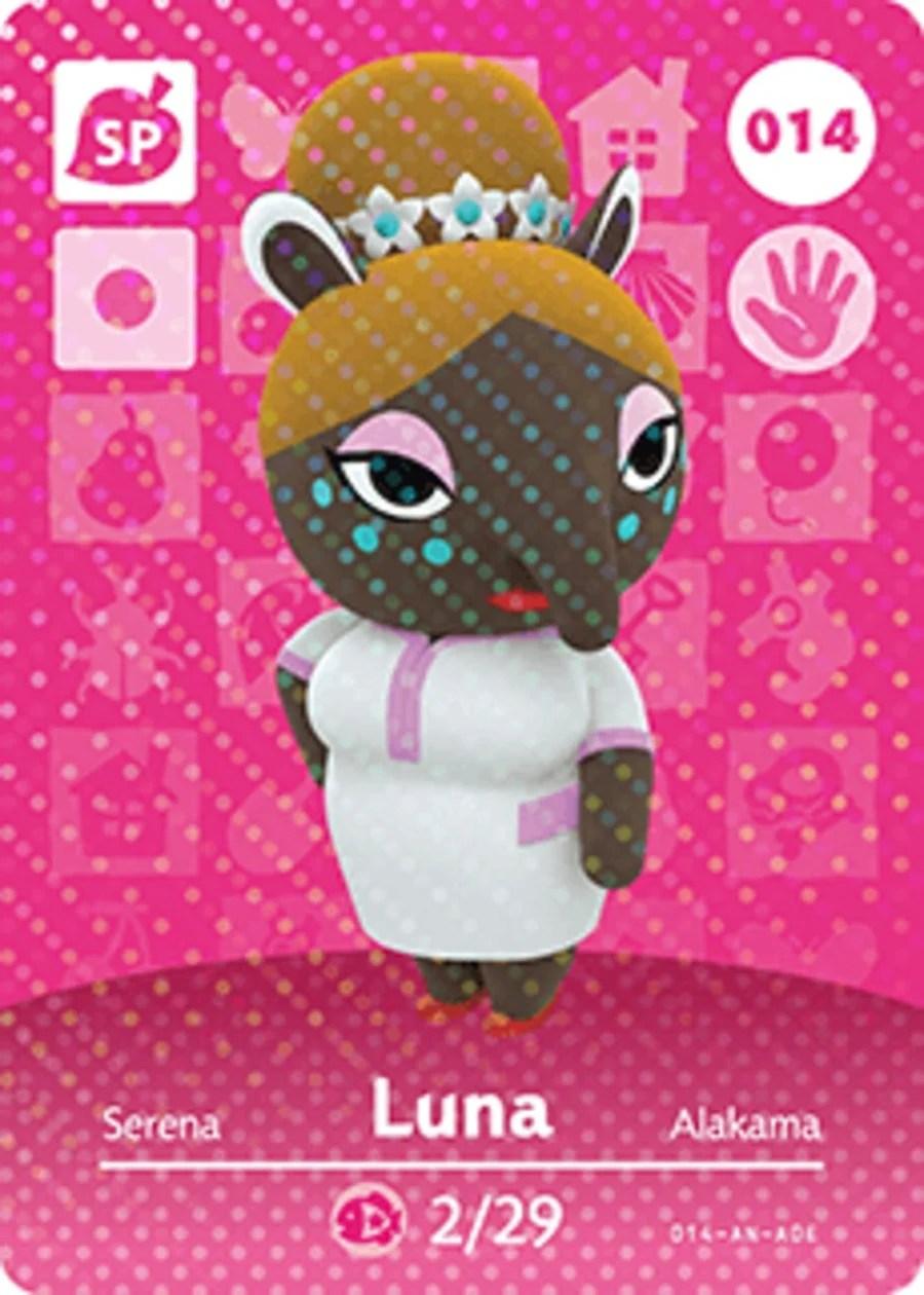 Luna Animal Crossing Amiibo Card