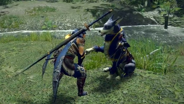 Random: Yes, You Can Pet The Palamute In Monster Hunter Rise 1