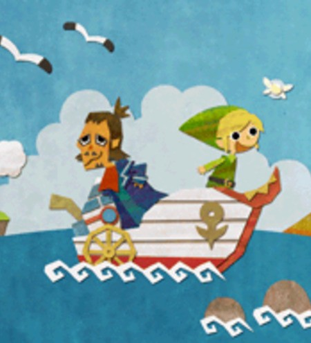 Look how much he loves boats! Give Link a boat game again, dang it!