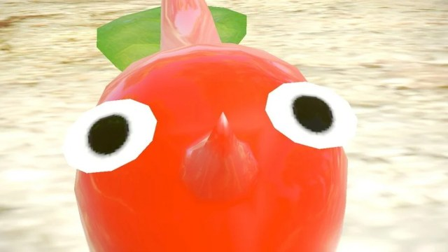 An in-game screenshot from the Pikmin 3 Deluxe Demo