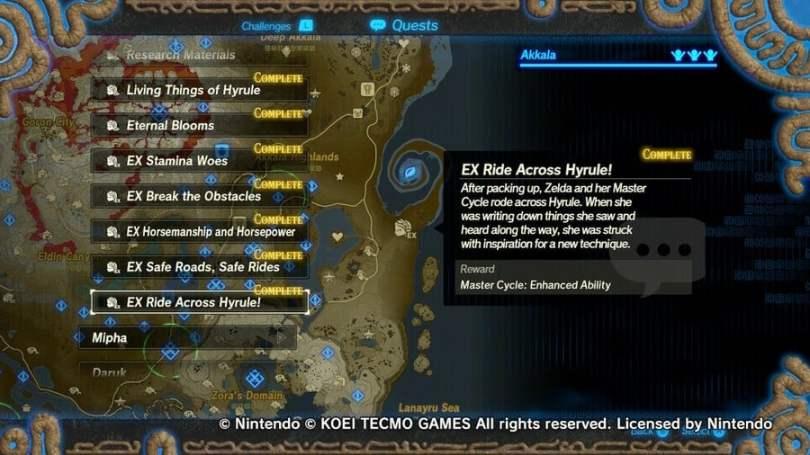 Zelda EX Quests