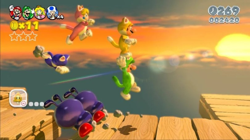 Super Mario 3D World Screen