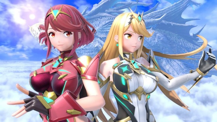 Pyra and Mythra as seen in Super Smash Bros. Ultimate (2018)