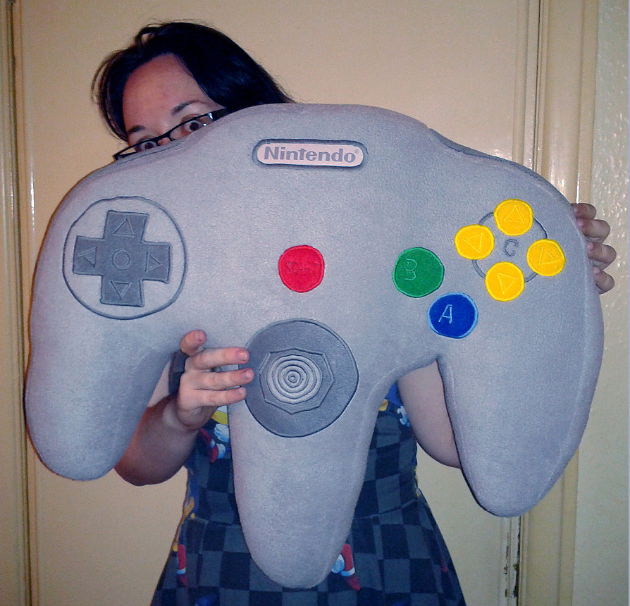 console gaming chair best for guitar practice weirdness: it's a nintendo 64 controller pillow, which looks rather comfortable - life