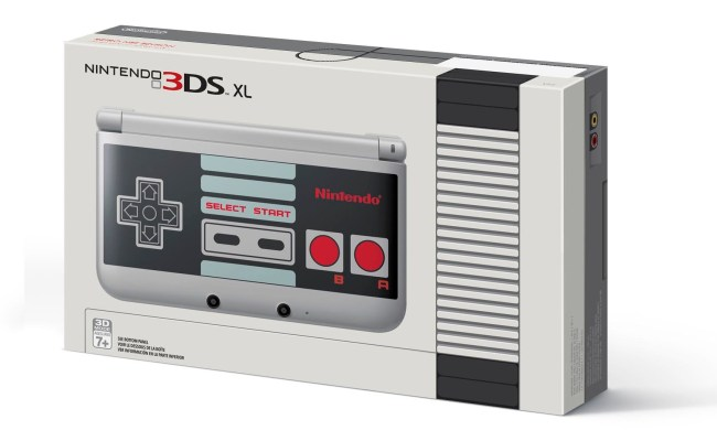 Nes Themed Nintendo 3ds Xl On The Way As Gamestop