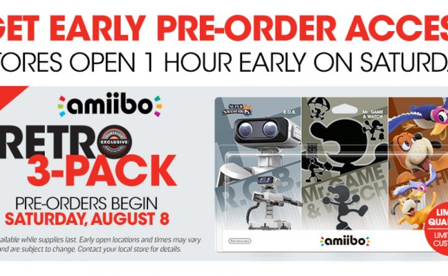Gamestop Confirms Amiibo 3 Pack Pre Order Event This