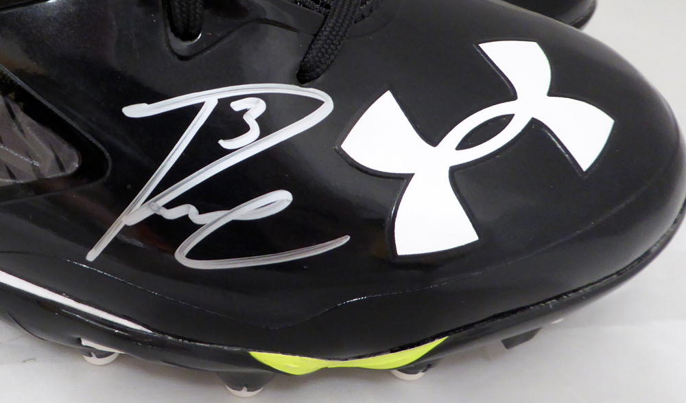 82730e23602 Russell Wilson Autographed Signed Under Armour Cleats