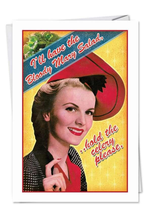 Bloody Mary Salad Funny Birthday Card