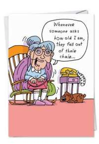 Fall Out Of Chair Funny Cartoons Happy Birthday Card
