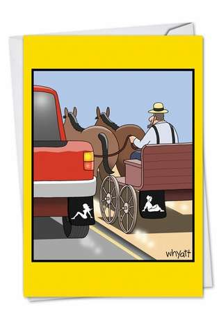 Amish Mudflap Cartoons Birthday Greeting Card Tim Whyatt
