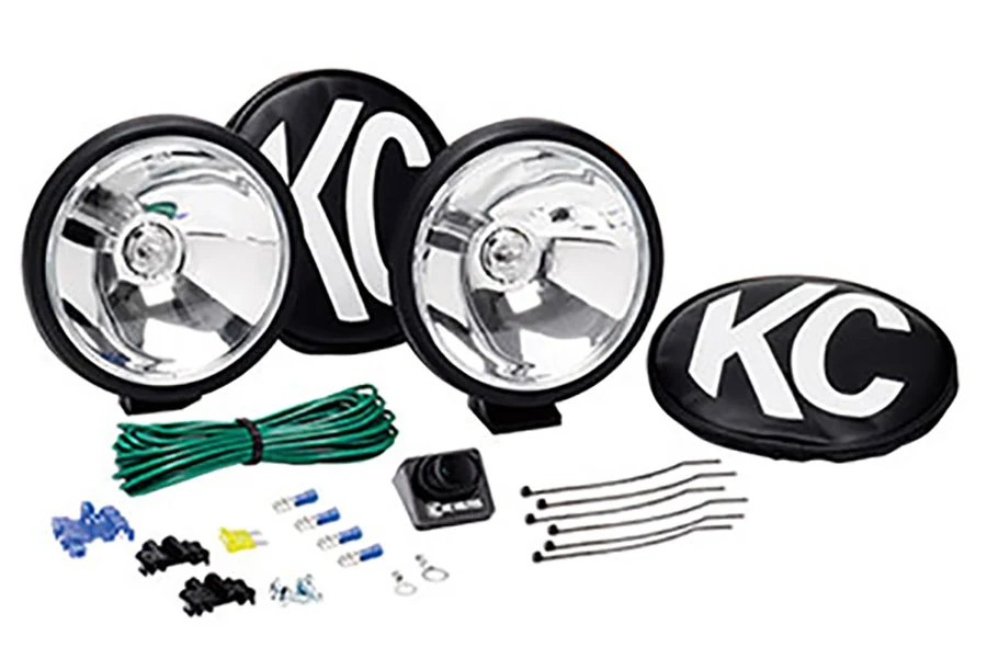 KC HiLites 6in Apollo Halogen Pair Pack System Spot