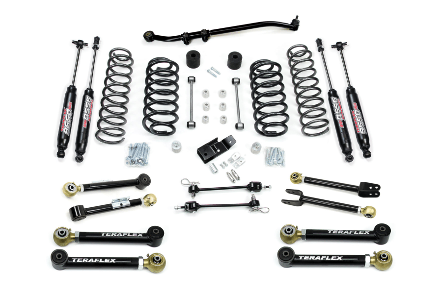 Teraflex 3in Lift Kit W8 Flexarms Trackbar 9550 Shocks