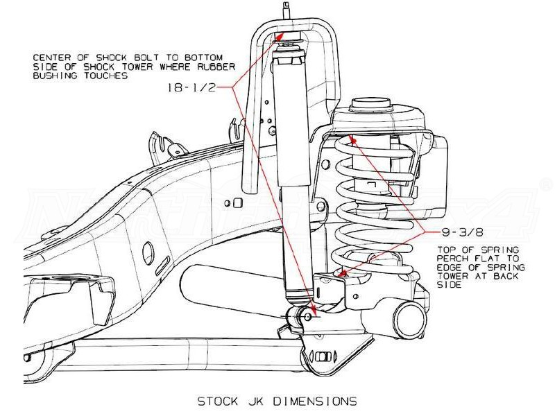 Jeep JK 4DR Teraflex Suspension 25in Spring Box Lift Kit w