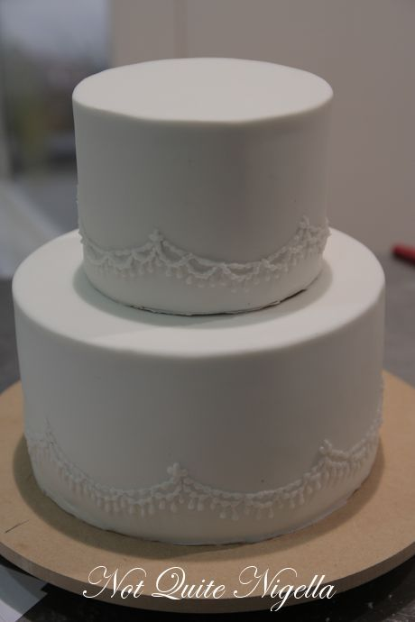 How to Make a Two Tier Wedding Cake with Faye Cahill  Not Quite Nigella