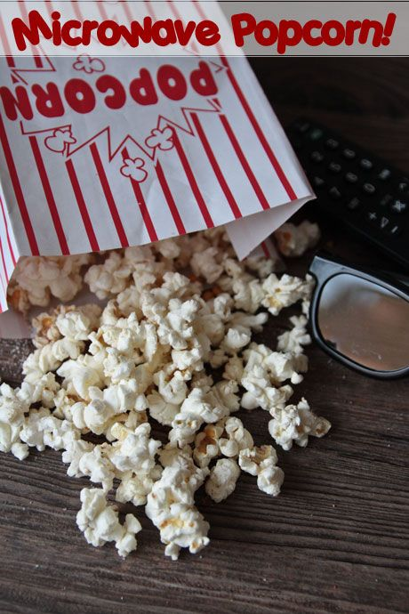 own microwave buttered popcorn in