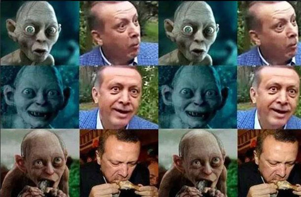 Gollum and Erdogan pictures
