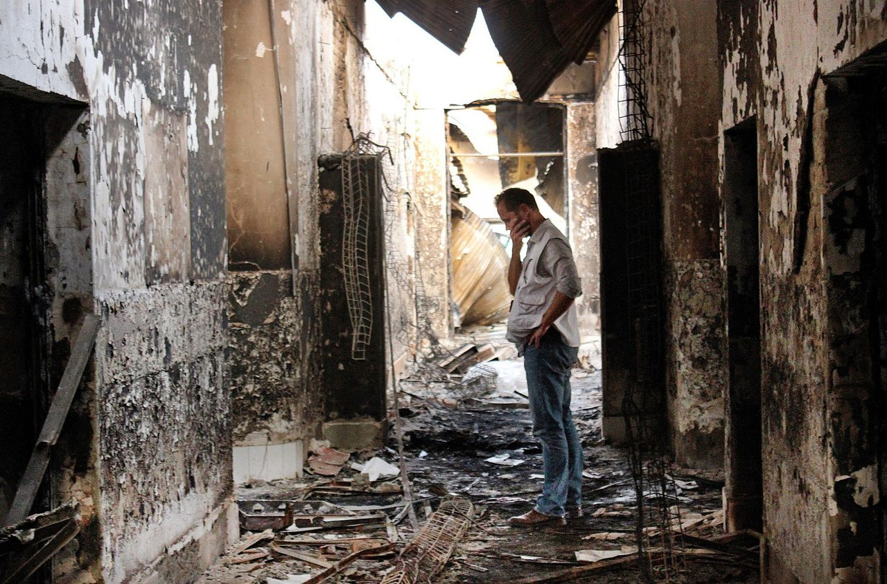 Kunduz, Afghanistan hospital after the bombing, photo Najim Rahim / AFP