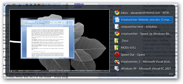 Vista Switcher Screenshot