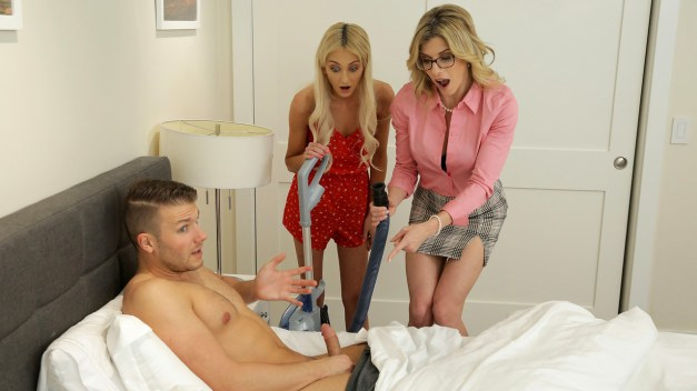Moms Teach Sex - Mom His Dick Is Stuck In A Vacuum Cleaner - S13:E4