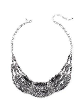 NY&C: Multi-Row Beaded Bib Necklace