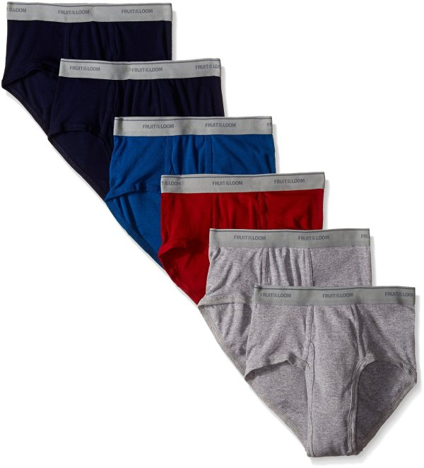 Fruit Of Loom Men 6-pack Assorted Fashion Briefs