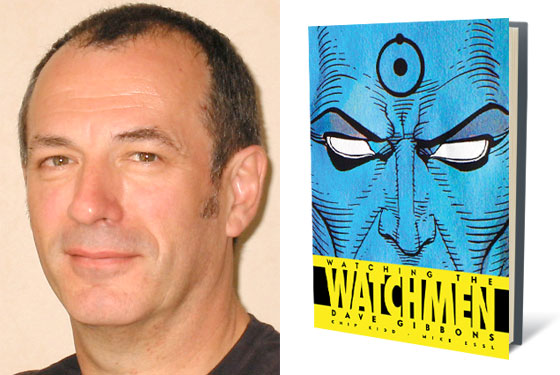Dave beside Watchmen Book