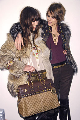 with Freja Beha at Gucci, Feb. 2008
