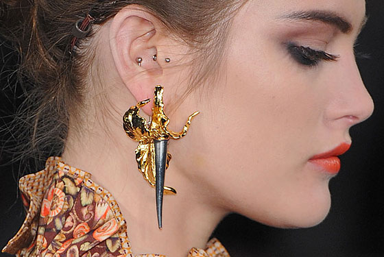 The earrings at Zac Posen.