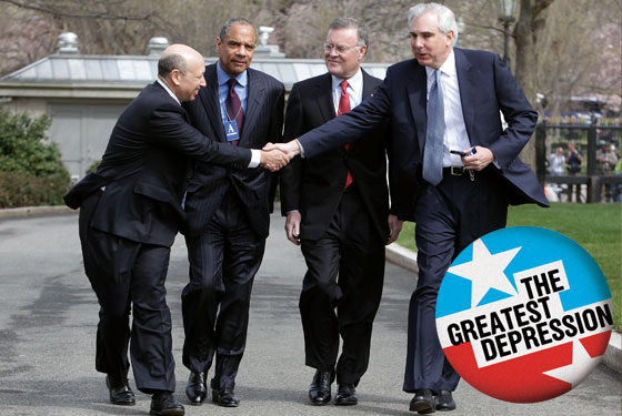 Fat Cat bankers leave White House meeting with Obama