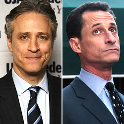 Anthony Weiner Has a Bone to Pick With His Old Roommate Jon Stewart