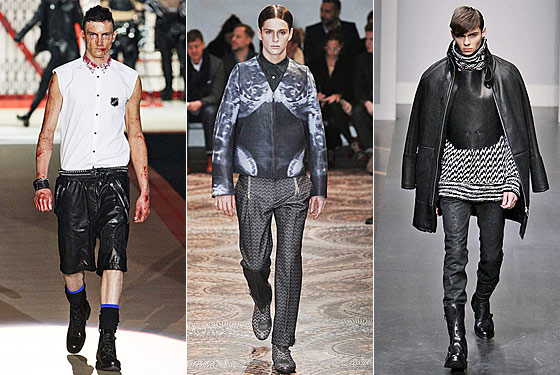 From left, DSquared2, Alexander McQueen, and Gianfranco Ferré.