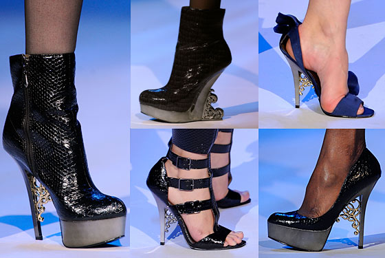 Footwear from Christian Siriano's fall runway collection.