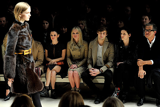 Hot Shot: Front Row at Burberry