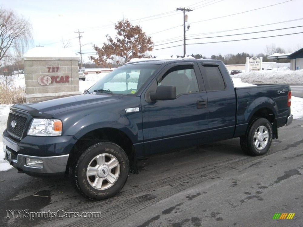 medium resolution of 2004 f150 xlt supercab 4x4 medium wedgewood blue metallic dark flint photo 1
