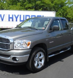 2008 dodge ram 1500 big horn edition quad cab 4x4 in mineral gray metallic 619091 [ 1024 x 768 Pixel ]