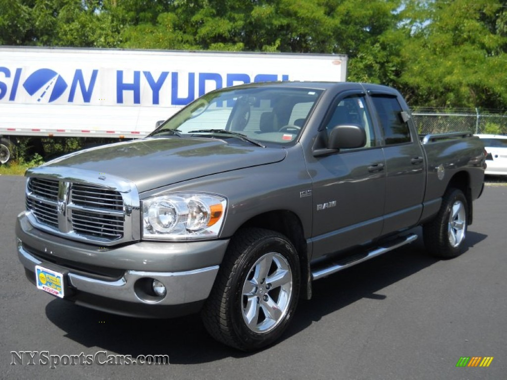 hight resolution of 2008 dodge ram 1500 big horn edition quad cab 4x4 in mineral gray metallic 619091