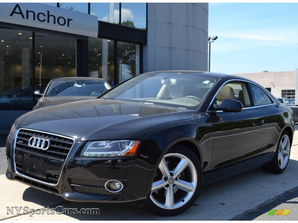 hight resolution of brilliant black linen beige audi a5 3 2 quattro coupe