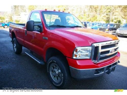 small resolution of 2006 f350 super duty xlt regular cab 4x4 red clearcoat dark flint photo