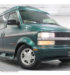 2000 astro awd passenger conversion van dark forest green metallic neutral photo 3 [ 1024 x 768 Pixel ]