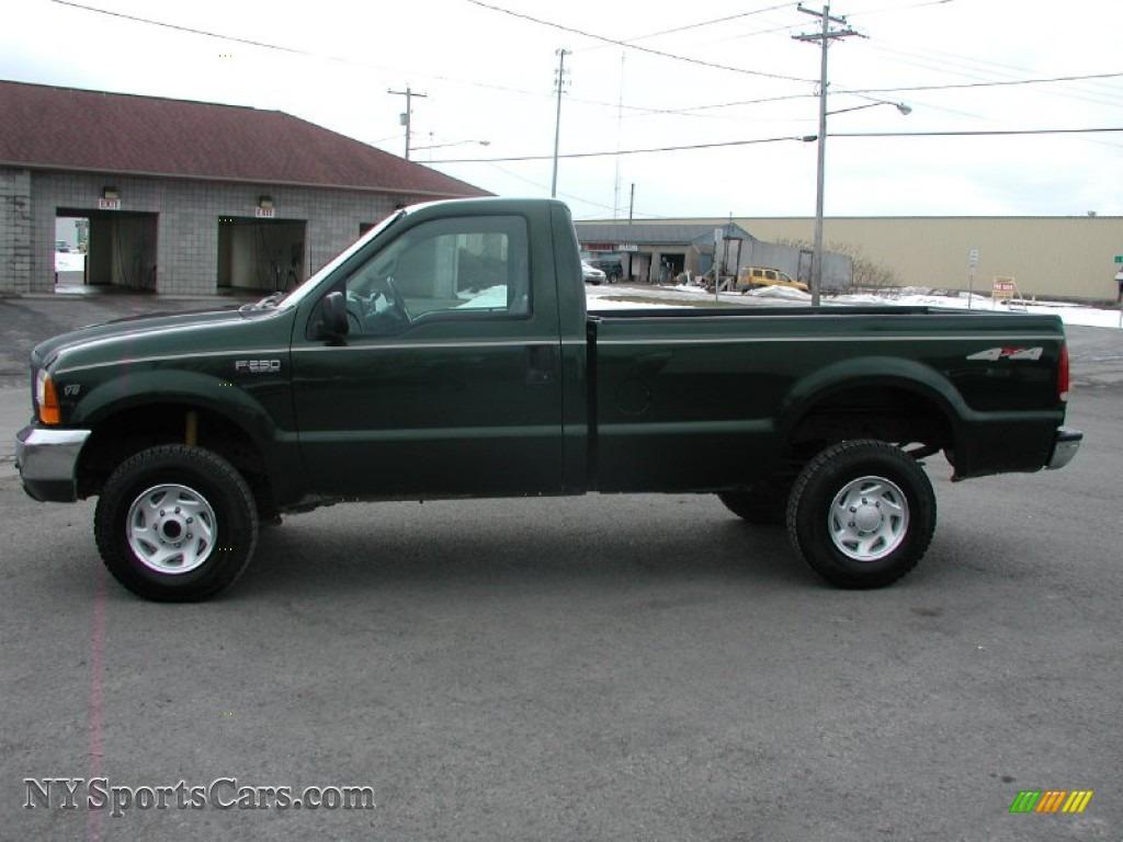 hight resolution of 1999 f250 super duty xl regular cab 4x4 dark hunter green metallic medium prairie