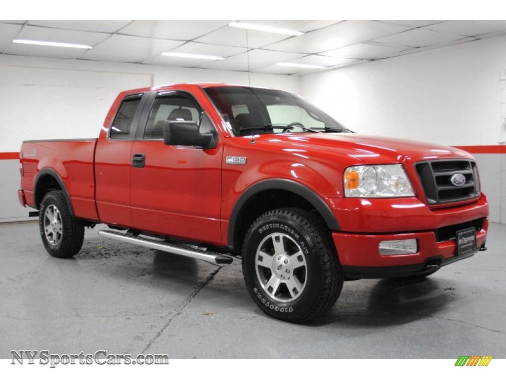 hight resolution of bright red black ford f150 fx4 supercab 4x4